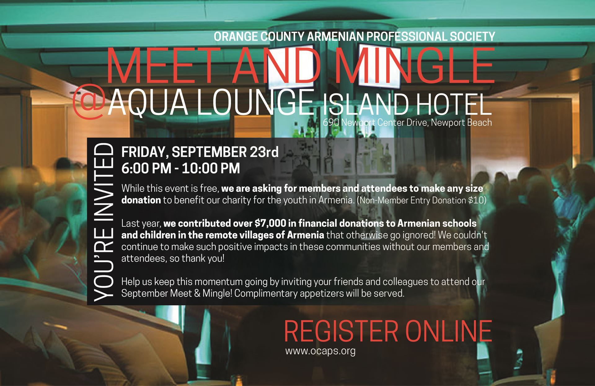 orange county n professional society meet mingle registration